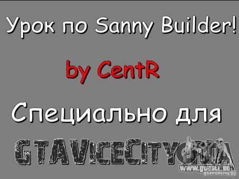 Leçon pour le Sanny Builder v3.04
