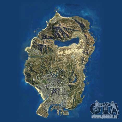 Carte Satellite de Grand Theft Auto 5