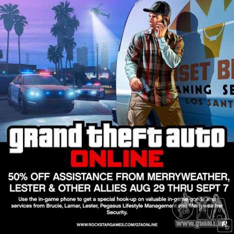 GTA Online: moins 50% sur des services de VIP