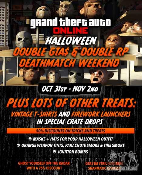 Halloween dans GTA Online: les bonus, les concours