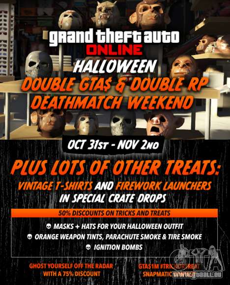 Halloween in GTA Online: Prämien, Wettbewerbe