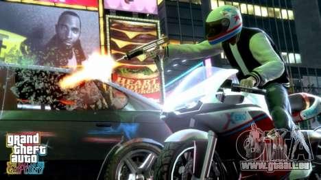 la Libération des compléments de GTA TBOGT PC, de la PS3 en Europe