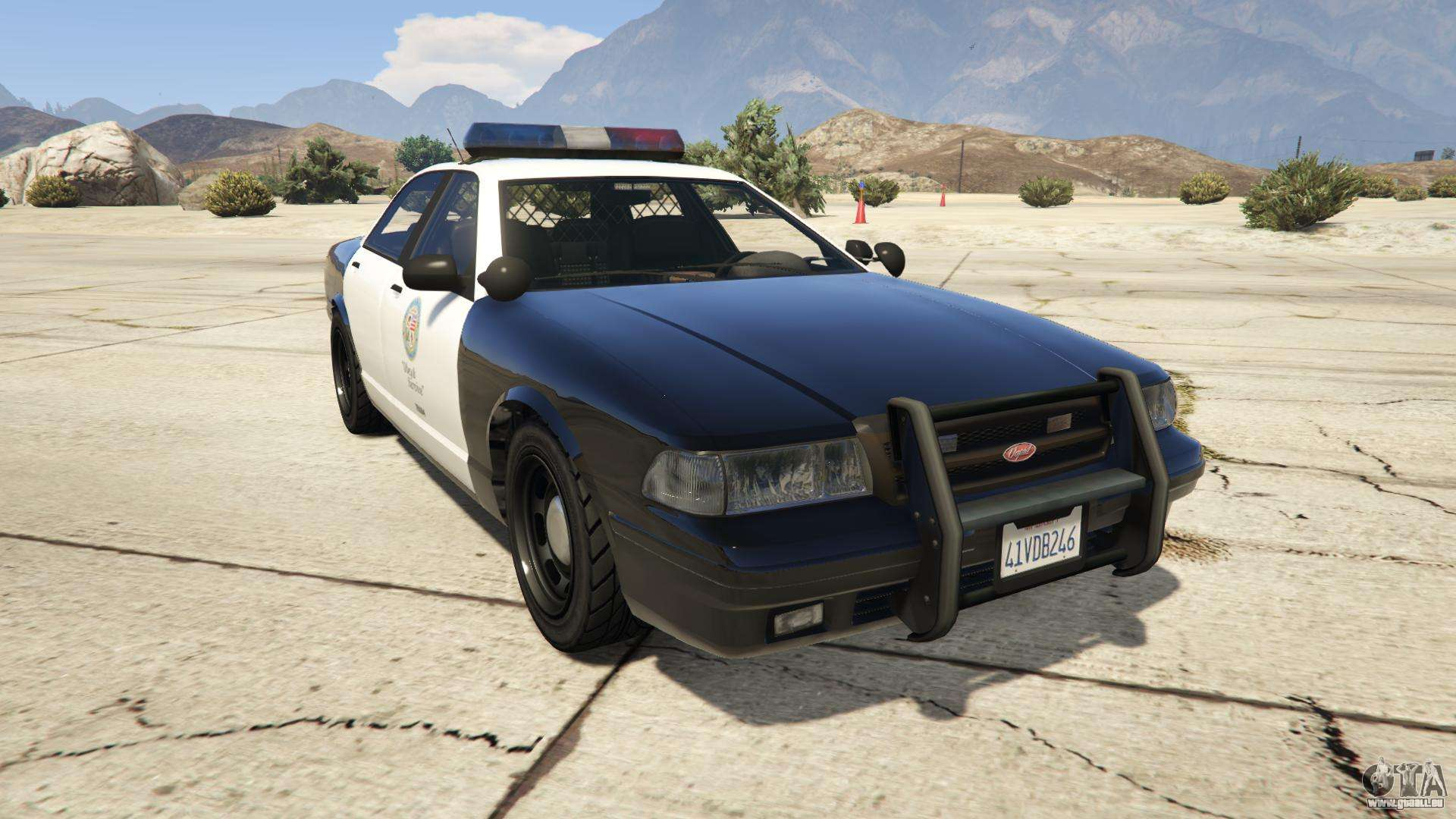 GTA 5 Vapid Police Cruiser - vue de face