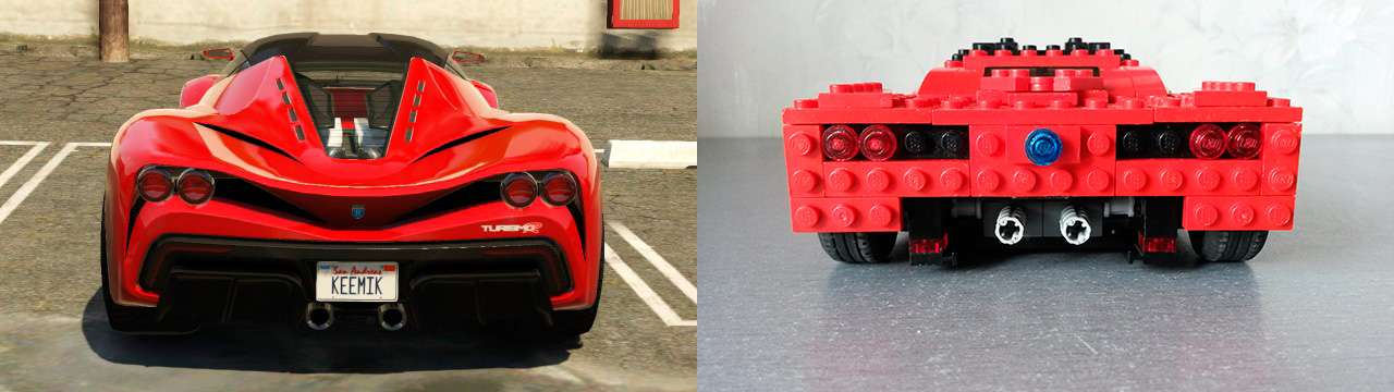 Lego Grotti Turismo R - vue arrière