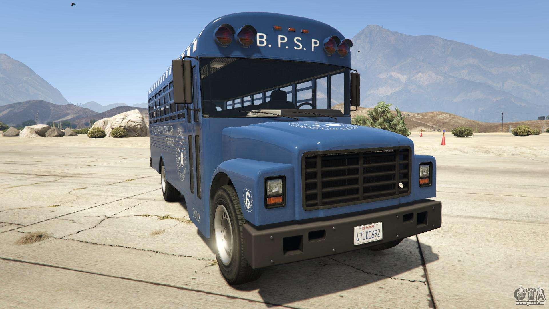 GTA 5 Vapid Prison Bus - Frontansicht