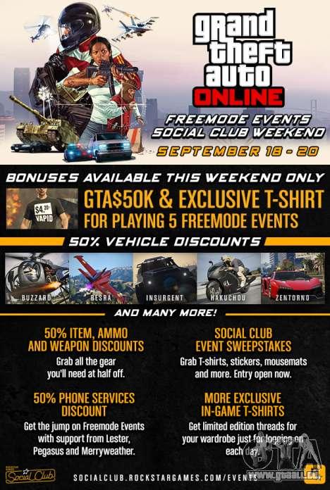 GTA Online Freemode Ereignisse Wochenende
