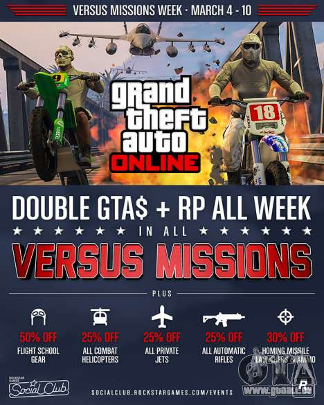 Versus Missionen Woche in GTA Online