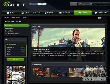 GeForce Experience pilotes pour GTA 5