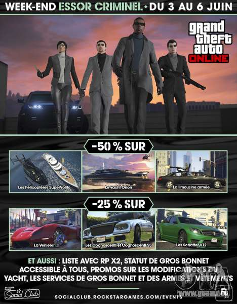 Essor Criminel Week-end dans GTA Online