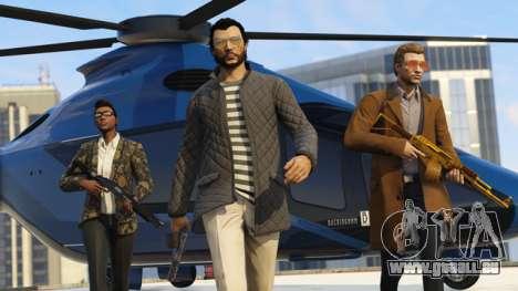les gars Cool avec la Volatus sur fond dans GTA Online