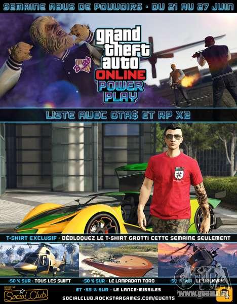 une Autre manifestation hebdomadaire dans GTA Online