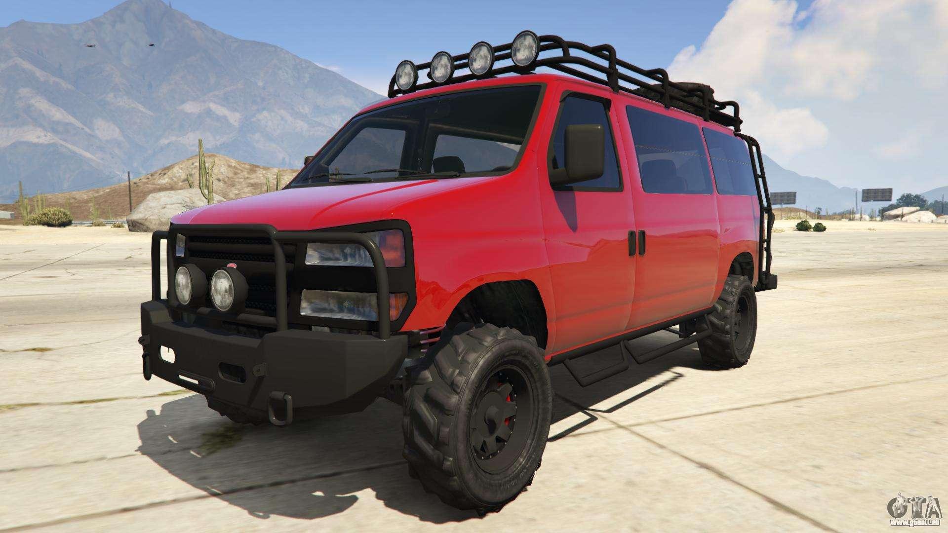 Bravado Rumpo Custom de GTA Online - vue de face
