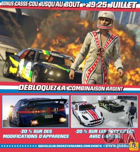 Bonus et des réductions dans GTA Online