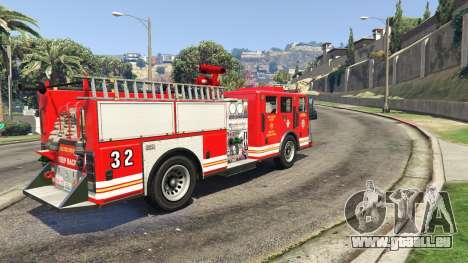 camion de pompiers vue arrière