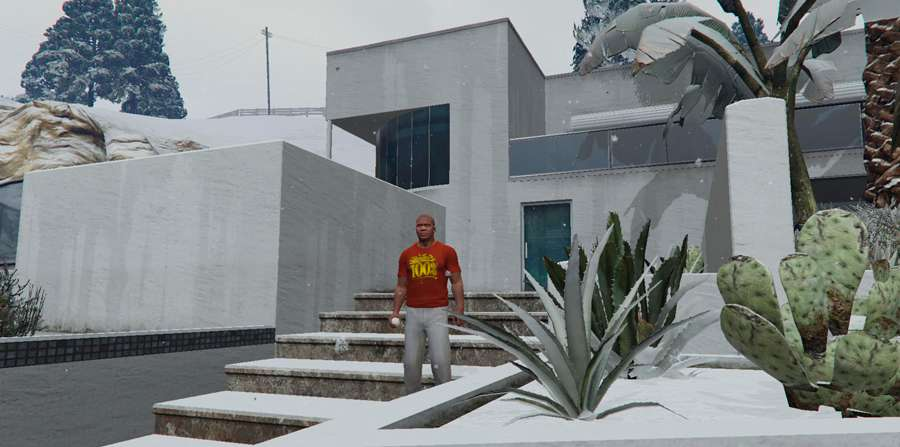 Bataille de boules de neige dans GTA 5