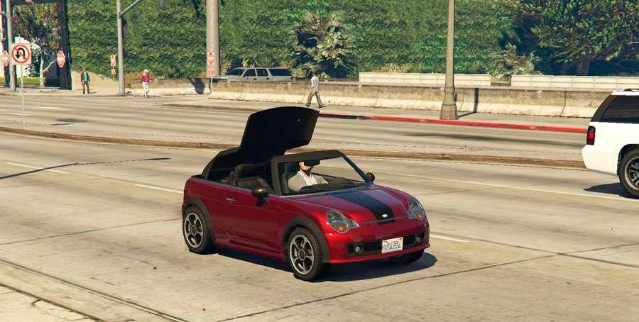 So schließen Sie das Dach des Autos in GTA 5