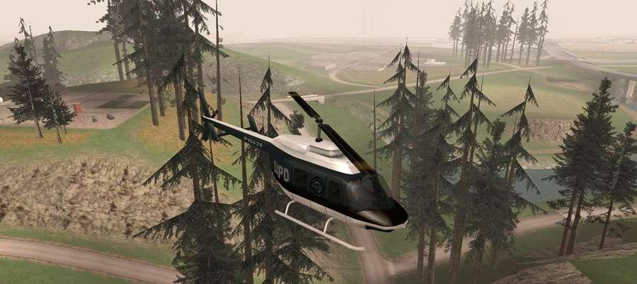 Wo finden Sie eine Polizei-Hubschrauber in GTA San Andreas