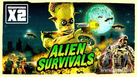 Récompenses doublées dans les survies alien et bonus dans les guerres commerciales