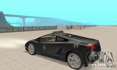 Lamborghini Gallardo Police pour GTA San Andreas vue de droite