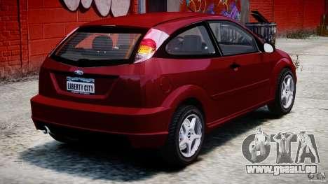 Ford Focus SVT pour GTA 4 Vue arrière de la gauche