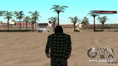 New skin Grove HD pour GTA San Andreas deuxième écran
