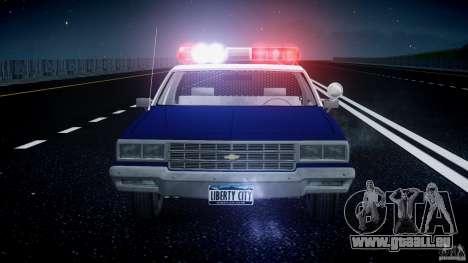 Chevrolet Impala Police 1983 pour GTA 4 Salon