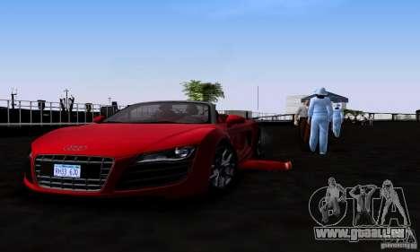 Audi R8 Spyder pour GTA San Andreas vue de droite