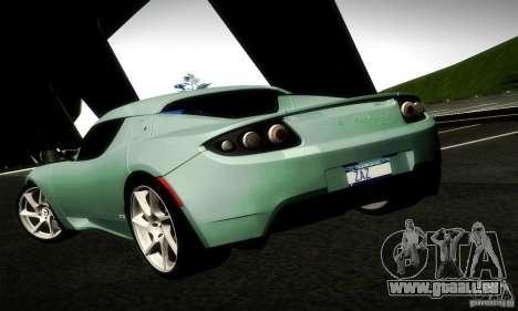 Tesla Roadster Sport für GTA San Andreas zurück linke Ansicht