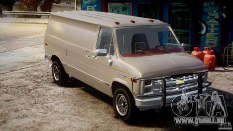 Chevrolet G20 Vans V1.1 pour GTA 4 est un droit