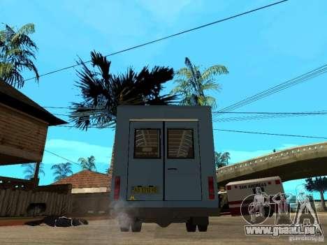 Gazelle Ruta für GTA San Andreas zurück linke Ansicht