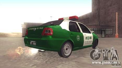 Fiat Siena Carabineros De Chile pour GTA San Andreas laissé vue