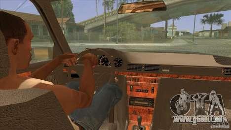 Mersedes-Benz E500 pour GTA San Andreas vue de dessus