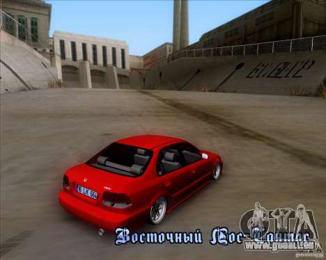 Honda Civic 16 LK 664 pour GTA San Andreas vue de dessus