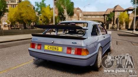 Ford Sierra RS500 Cosworth 1987 für GTA 4 hinten links Ansicht