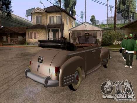 Phaeton ZiS-110 b pour GTA San Andreas sur la vue arrière gauche