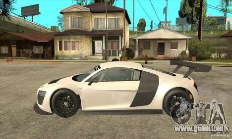 Audi R8 LMS v1 pour GTA San Andreas laissé vue
