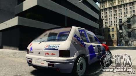 Peugeot 205 Rally pour GTA 4 Vue arrière de la gauche