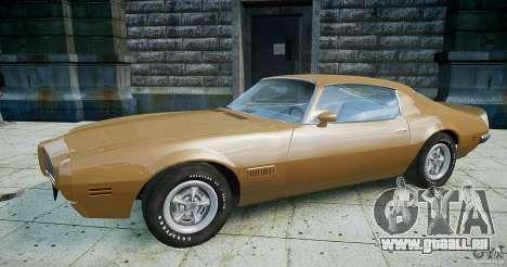 Pontiac Firebird 1970 pour GTA 4 est une gauche