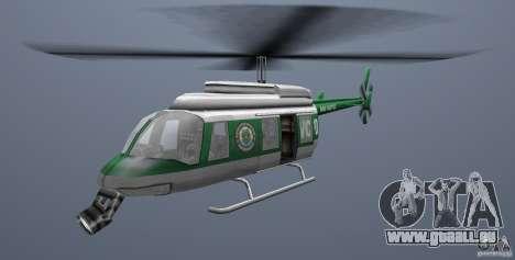 VCPD Chopper pour GTA Vice City sur la vue arrière gauche