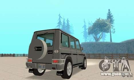 Mercedes-Benz G500 1999 c. 1,1 kengurâtnikom pour GTA San Andreas laissé vue