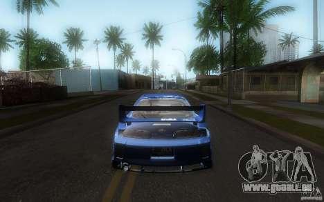 Toyota Supra Chargespeed pour GTA San Andreas vue de dessus