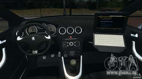 Peugeot 308 GTi 2011 Police v1.1 pour GTA 4 Vue arrière