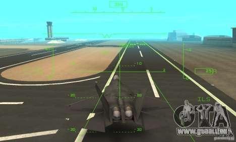 YF-22 Black pour GTA San Andreas vue de dessus