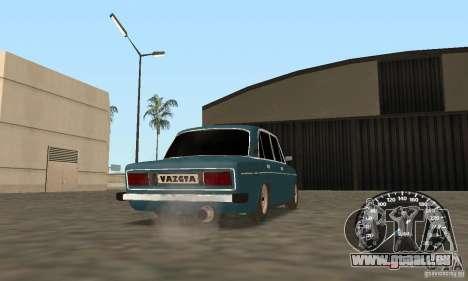 VAZ 2106 Tuning Light pour GTA San Andreas sur la vue arrière gauche