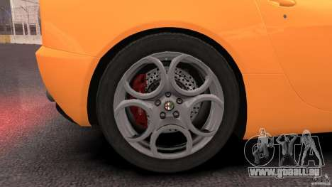 Alfa Romeo 8C Competizione pour GTA 4 vue de dessus