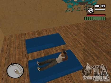Training and Charging pour GTA San Andreas troisième écran