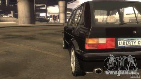 Volkswagen Golf pour GTA 4 est une vue de l'intérieur