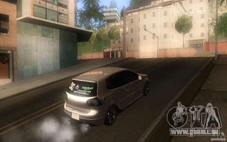 Volkswagen Golf MK5 pour GTA San Andreas vue de droite