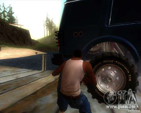 Landrover Discovery 2 Rally Raid pour GTA San Andreas vue arrière