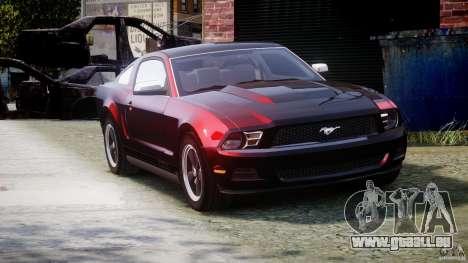 Ford Mustang V6 2010 Chrome v1.0 pour GTA 4 est une vue de l'intérieur